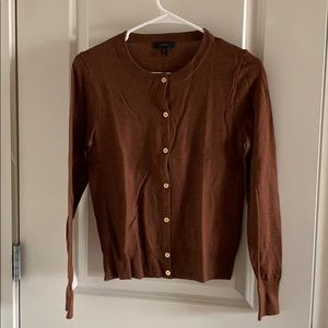 J.crew merino wool brown cardigan
